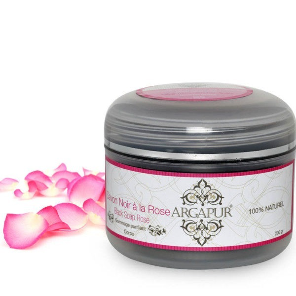 Moroccan black soap with rose