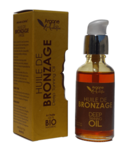 Organic tanning oil with argan