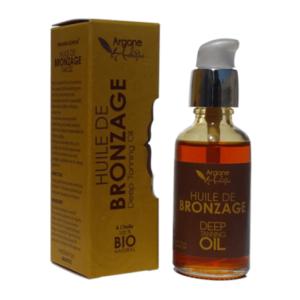 Organic tanning oil with argan