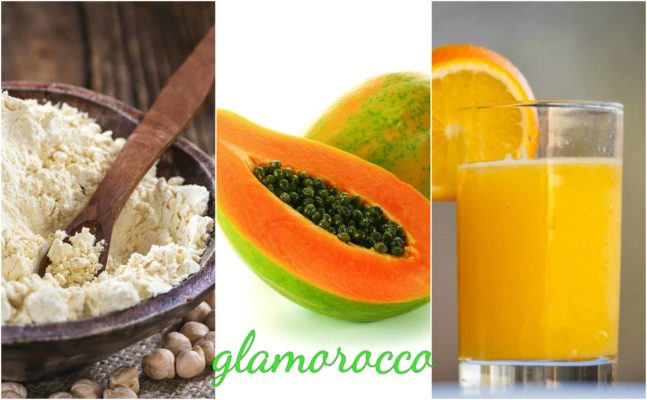gram flour and papaya for tanning removal